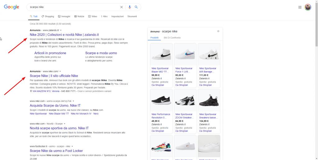 Annunci Google SEM