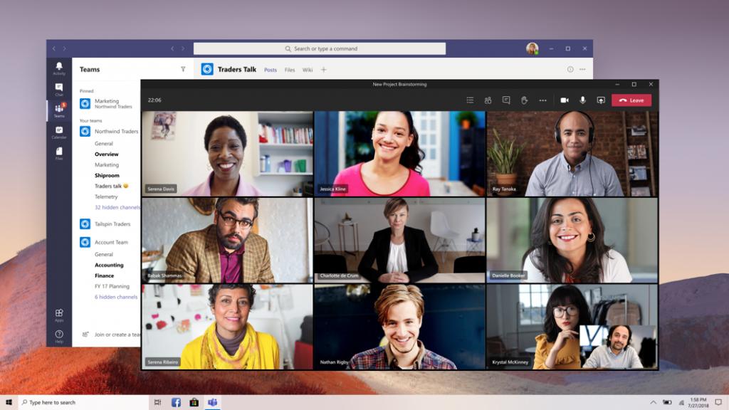 multi window Microsoft Teams