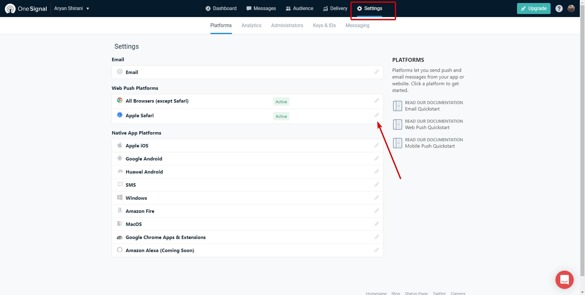Notifiche Push per Safari con OneSignal e WordPress
