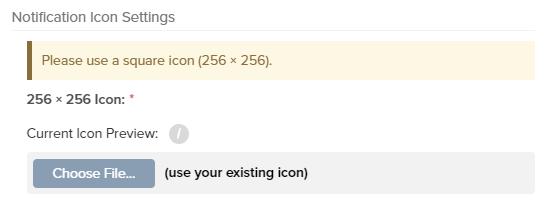 Icon settings