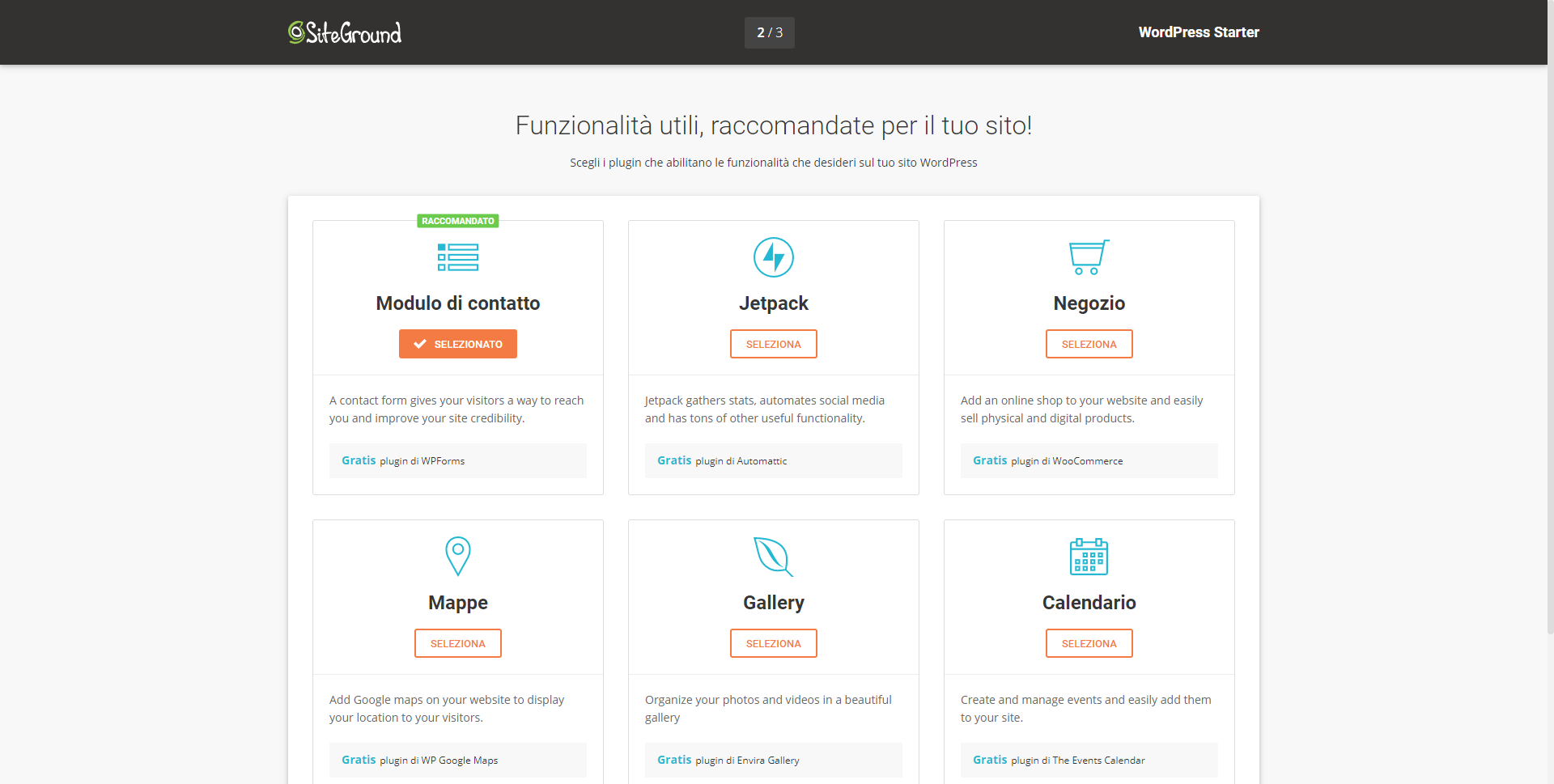 Funzionalità wordpress per il tuo sito