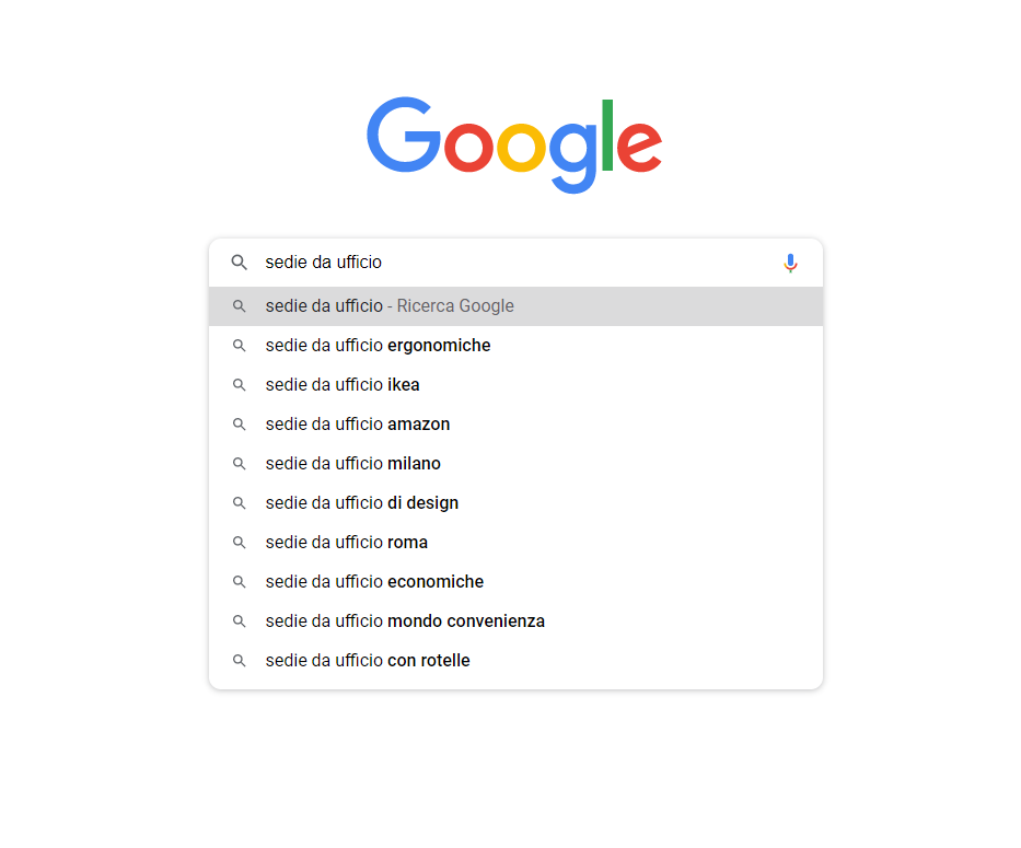google autocomplete keywords a coda lunga