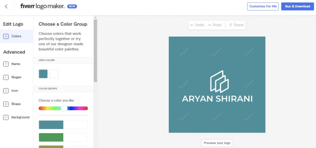 Fiverr Logo Maker Editing